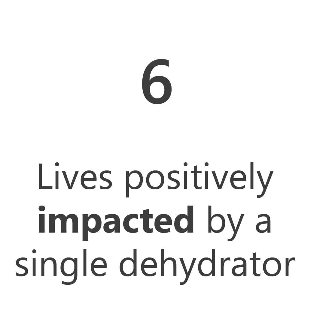 KinoSol's Impact-6 lives positively impacted by a dehydrator