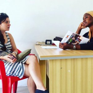 Interview with local community member to improve the sustainability of our program