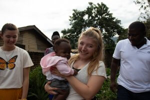 Haley engaging in the local community in Uganda