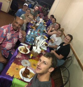 KinoSol group meal in Uganda