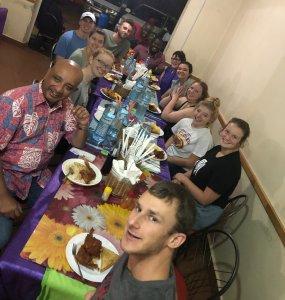 KinoSol group meal in Uganda
